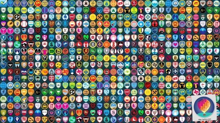 foursquare badges wallpaper  built your own !!!!