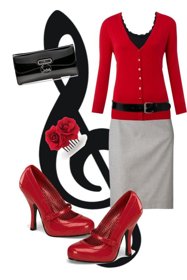 cuteness! Some say a modest woman should never wear red...hmmm, where's that in the Bible?