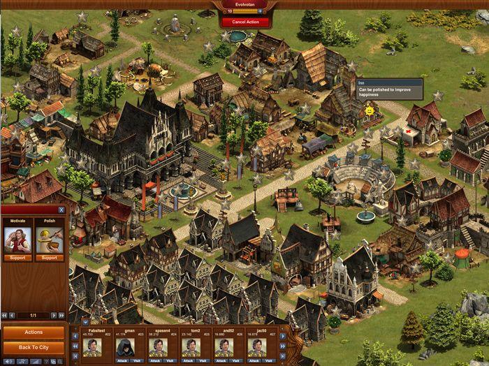 FORGE OF EMPIRES: transform your preistoric village into a powerful metropolis through different eras.