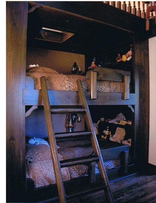 Western style bunk beds: Small Cabin, Cabin Design, Idea, Bunk Beds, Prints Design, Animal Prints, Beds Design, Kid, Built In Beds