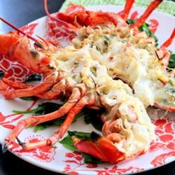 Lobster Thermidor: not quite as good as Julia Child's recipe, but so-o-o much easier and less labor and time intensive.