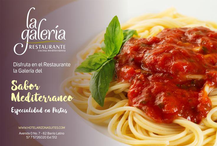 Disfruta en Restaurante la Galería el Sabor Mediterráneo, nuestra especialidad en Pastas. te esperamos! Av. 0 # 7 - 62 Barrio Latino #Cucuta #FelizMartes https://goo.gl/9QA8zt