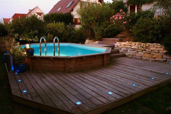 les 20 meilleures id es de la cat gorie piscine semi. Black Bedroom Furniture Sets. Home Design Ideas