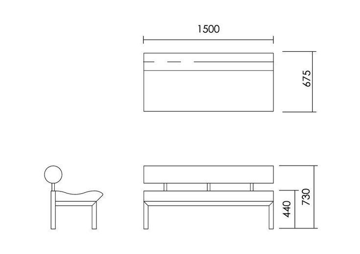 Sofá moderno / de acero inoxidable / de cuero / para edificio público - CURL…