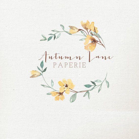 Pre-Made Logo Premade Logo Floral Logo by AutumnLanePaperie