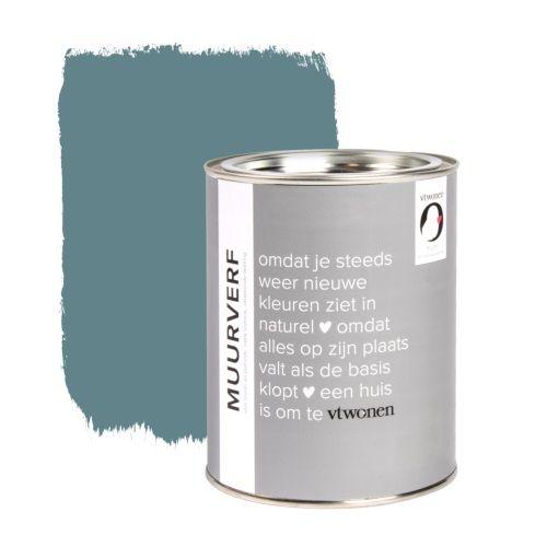 vtwonen muurverf 1 L - petrol blue