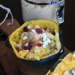 Roasted Acorn Squash with Cranberries, Almonds, & Brown Sugar #MysteryDish