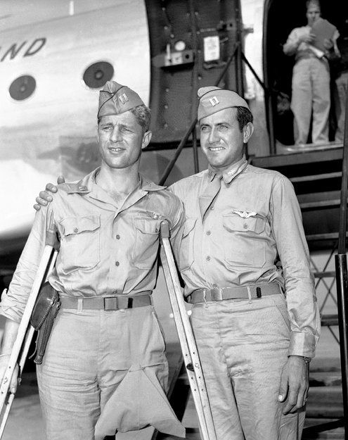 """Louis Zamperini, an Olympic runner who as an airman during World War II crashed into the Pacific, was listed as dead and then spent 47 days adrift in a life raft before being captured by the Japanese and enduring a harsh imprisonment, died on July 1, 2014 in Los Angeles at 97. His remarkable story of survival during the war gained new attention in 2010 with the publication of a vivid biography by Laura Hillenbrand, """"Unbroken: A World War II Story of Survival, Resilience, and Redemption."""""""