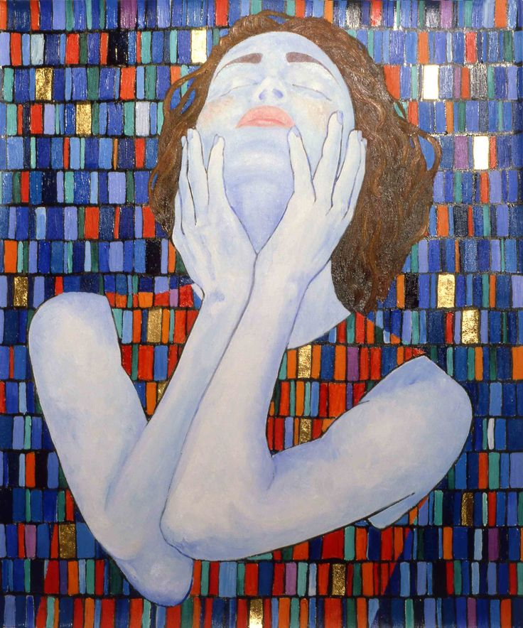 woman - oil painting - by aldo zoccante