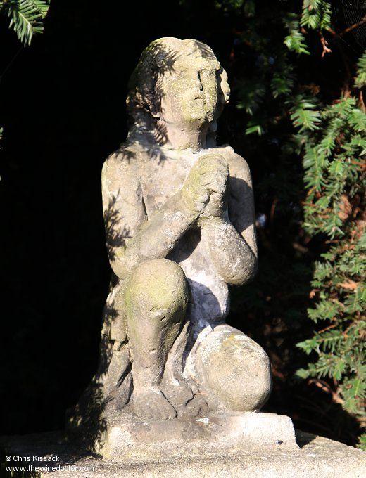 Religious statue, Château La Mission Haut-Brion, April 2015