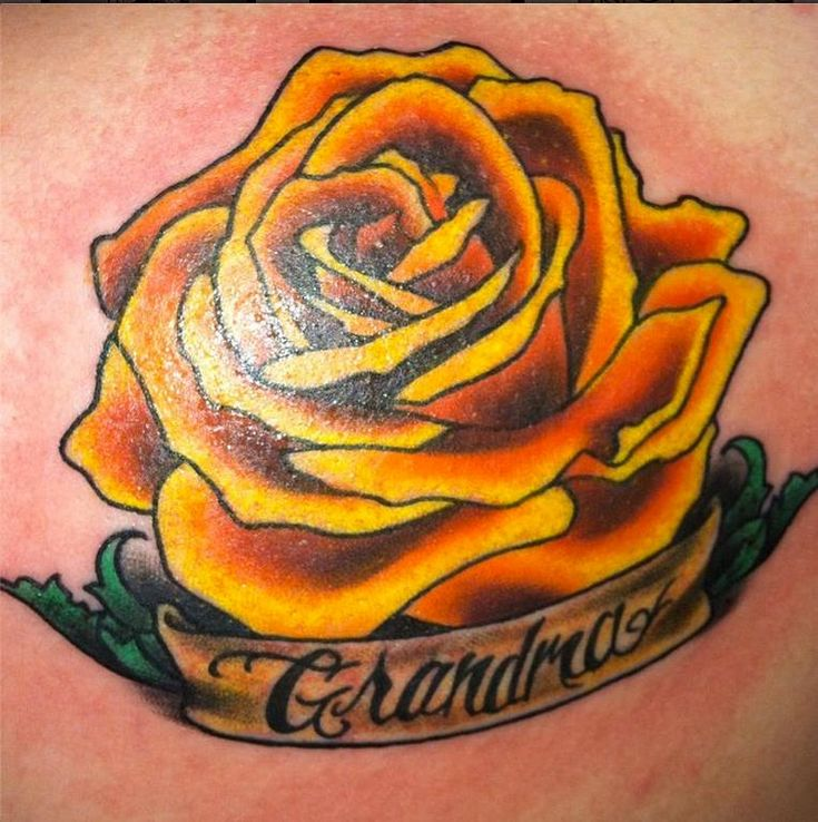 17 Best Ideas About Yellow Rose Tattoos On Pinterest