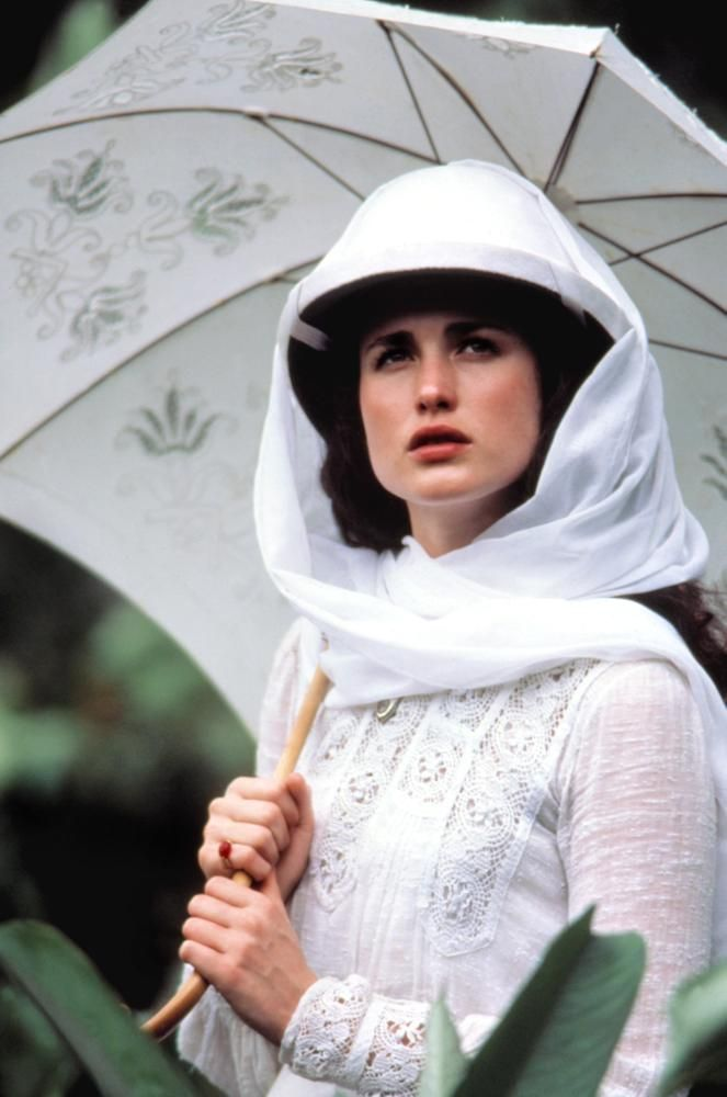"Andie MacDowell -""Greystoke: The Legend of Tarzan, Lord of the Apes"" (1984) - Costume designer : John Mollo"