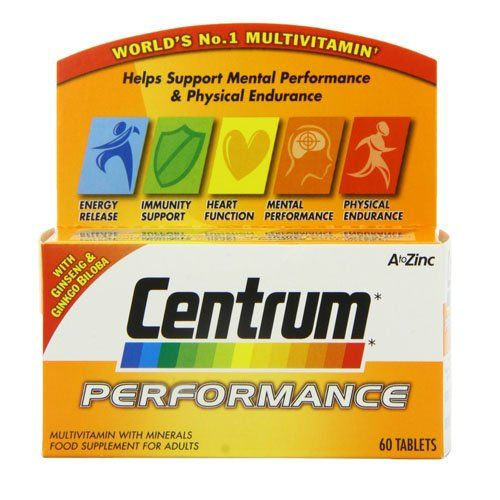 Centrum Performance - Pack of 60 CENTRUM PERFORMANCE 60 Full description coming soon!!! ALWAYS READ THE LABEL FOR ALL MEDICINAL PRODUCTS. Consult your Doctor or Pharmacist if you are taking other medicat (Barcode EAN = 5000309127861) http://www.comparestoreprices.co.uk/december-2016-6/centrum-performance--pack-of-60.asp