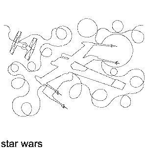 Star Wars Free Machine Quilting Pattern