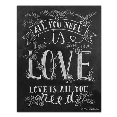 All You Need is Love - Print                                                                                                                                                                                 Mais