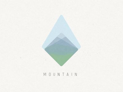 mountain logo, iike the layers- could use more contrast