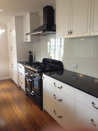 kitchen with freestanding oven - Google Search