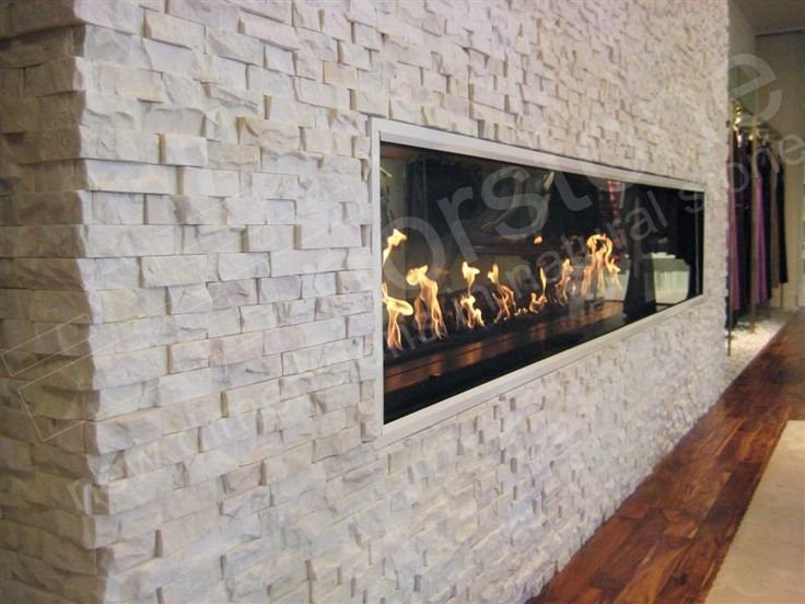 Modern Stacked Stone Fireplace Dream Home Pinterest Fireplaces See Through Fireplace