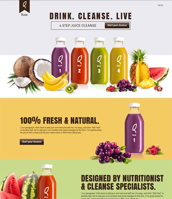 DRINK. CLEANSE. LIVE 10 New Free #WIX Templates  http://www.webdesign.org/10-new-free-wix-templates.22379.html