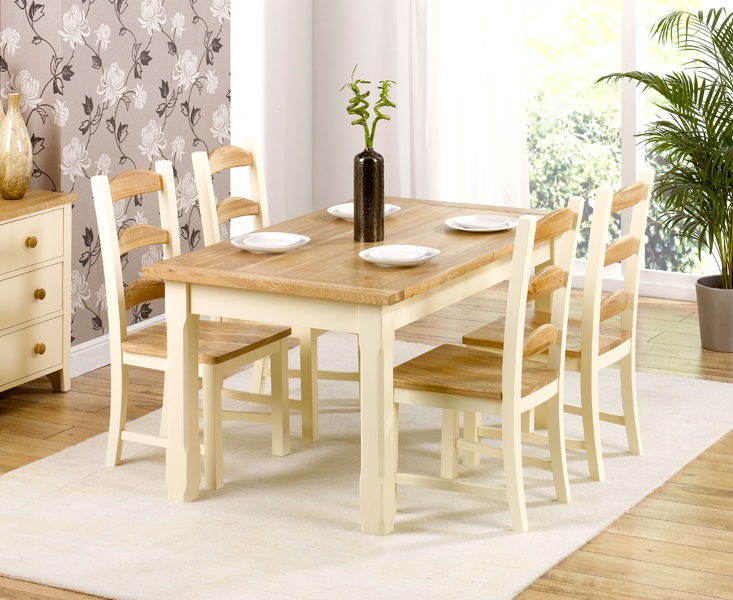 Windsor Solid Ash and Cream Painted Dining Sets - Fit and Furnish Ltd, Somerset (£548)