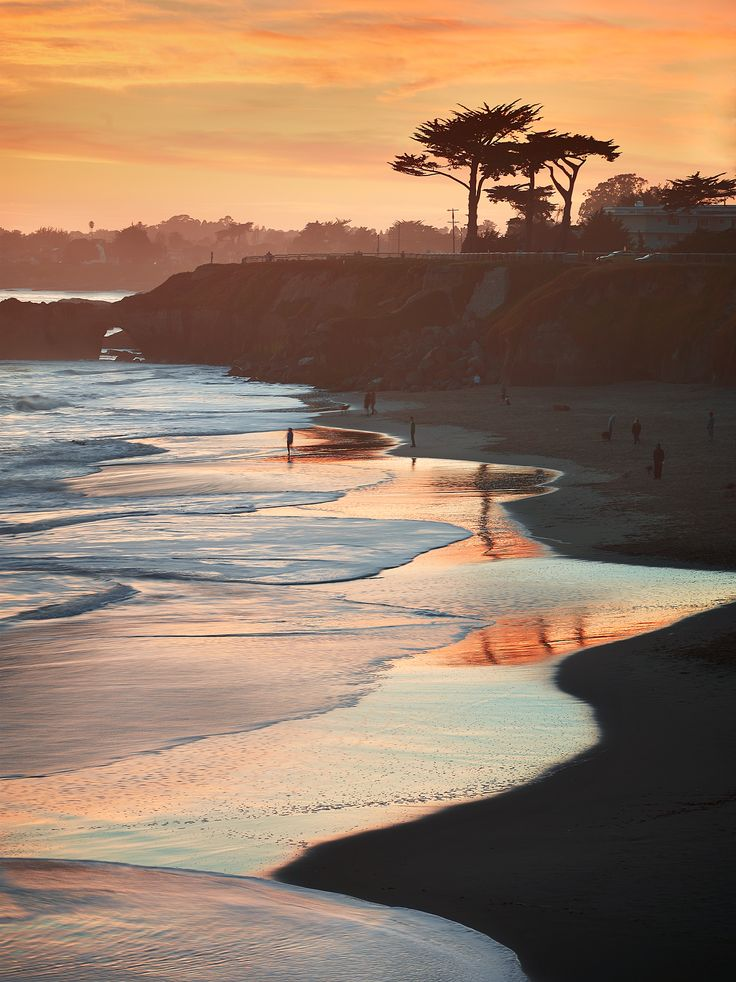 Lighthouse State Beach and West Cliff Drive in Santa Cruz, #California