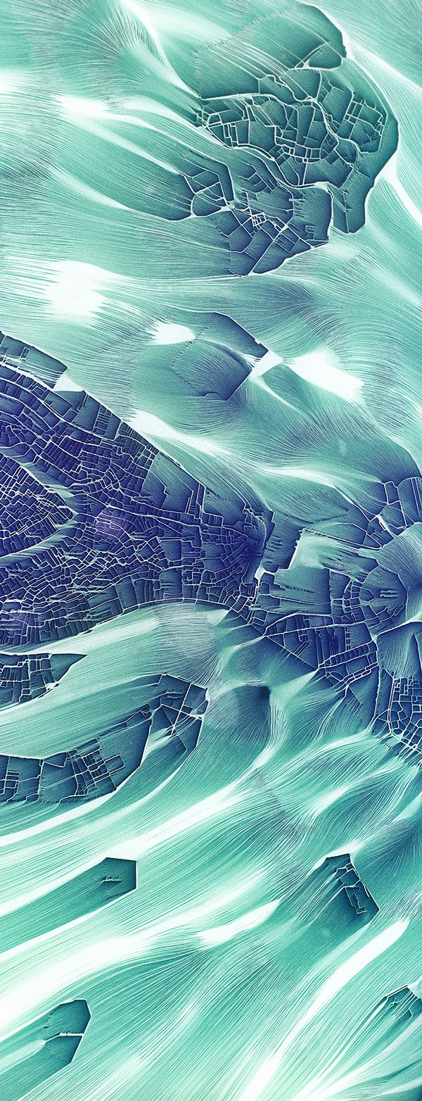 'Flowing City Map' on Behance