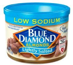 5 Tips To Reduce Salt/Sodium Intake for Heart Health - How about eating these wonderful Low Sodium Blue Diamond Almonds?