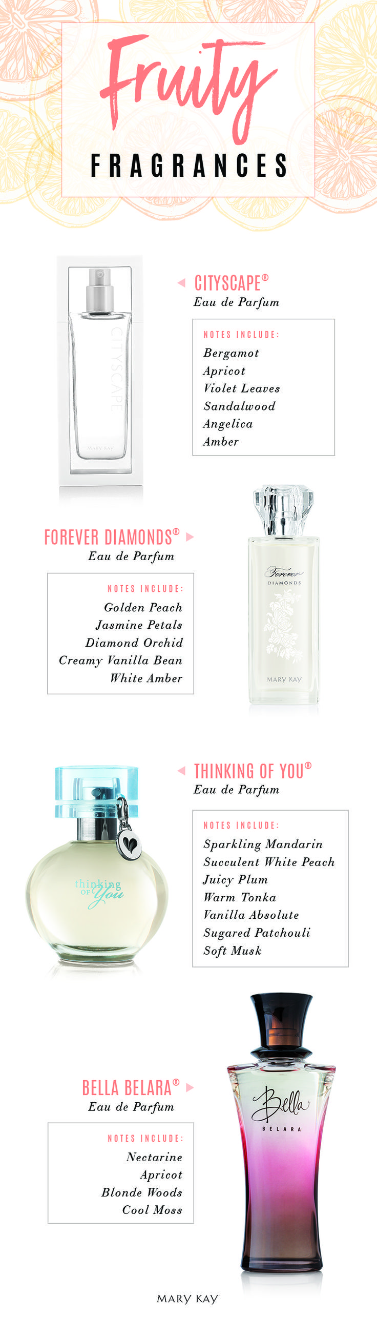 Summer scents are in full bloom! These energetic fruity fragrances make a special gift for your mom, sister or a bride-to-be. | Mary Kay