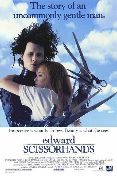 Edward Scissorhands. Makes me shed a tear or two.