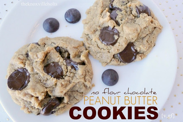 no flour} chocolate pb cookies {v,gf} | Cookie Monster | Pinterest