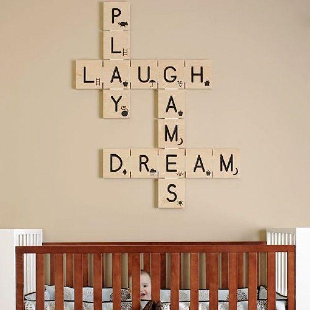 babykamer | Leuk idee voor de kinderkamer. Is ook makkelijk zelf te maken. Door lummie