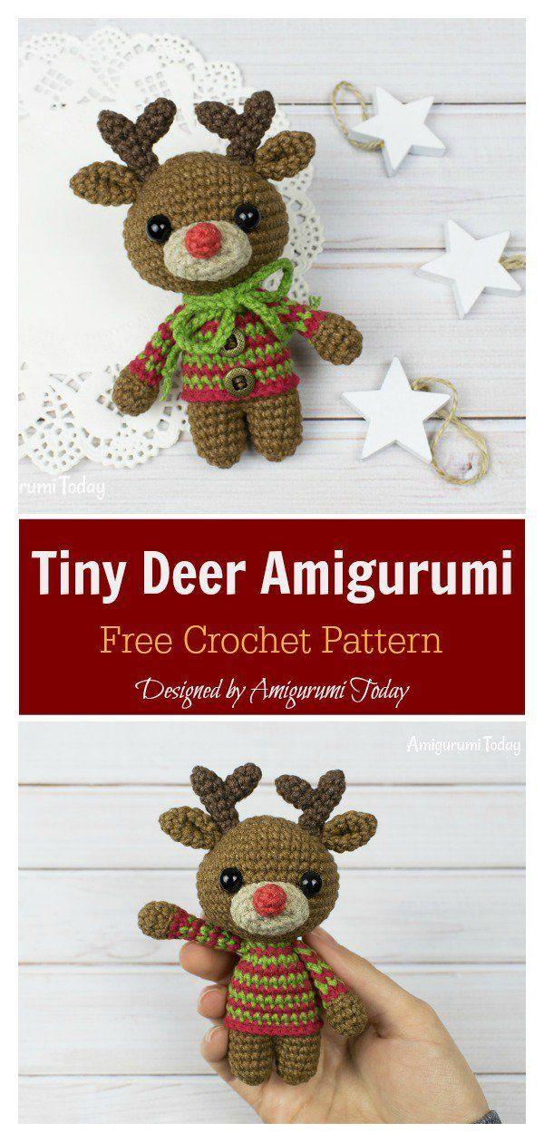 Tiny Deer Amigurumi Kostenlose Häkelanleitung Freecrochetpatterns