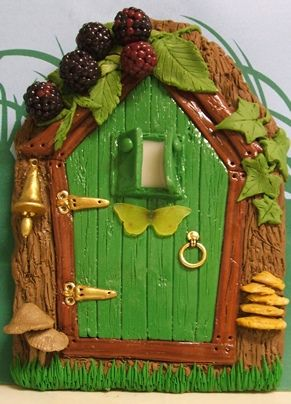 Green Door with Bell and Brambles | Flickr - Photo Sharing!