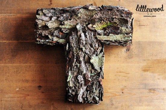 DIY: Drewniana litera z kory
