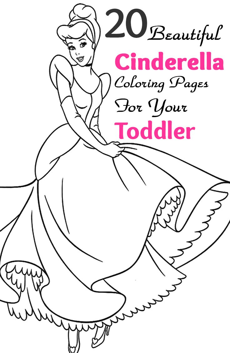 Coloring pages 7 continents - 25 Cinderella Coloring Pages