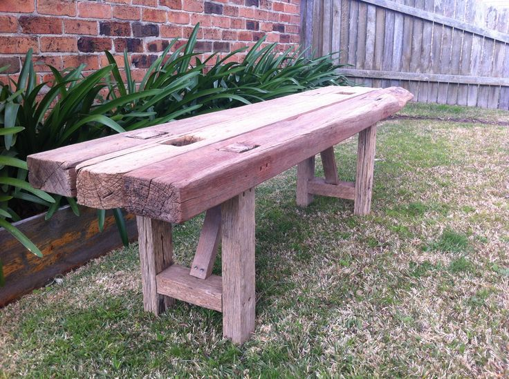 Outdoor bench seat - by Timber & Chisel