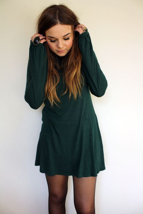 236 loose long sleeve mini with tights!! I AM IN LOVE..