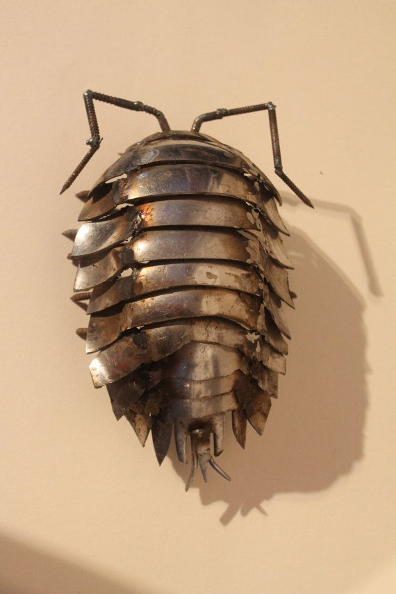 Scrap Metal Woodlouse Sculpture of Insect by ...