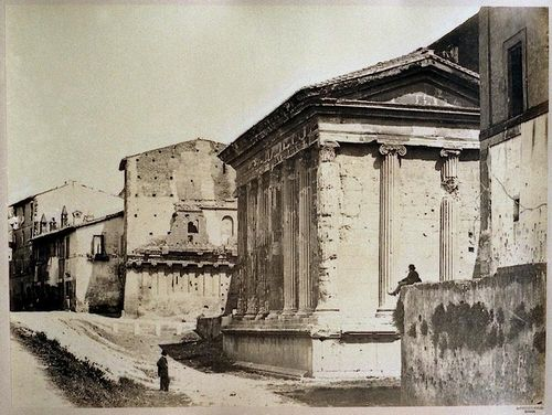 Temple of Fortuna Virilis (Temple of Portunus), Rome 1860-1865 Albumen print