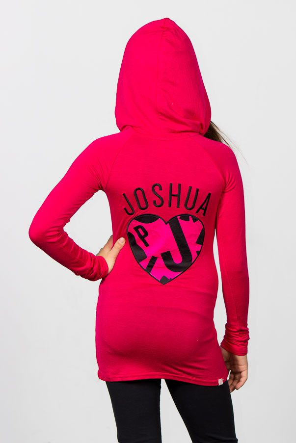 Love Joshua Perets hot pink Fashion  Top with hoodie