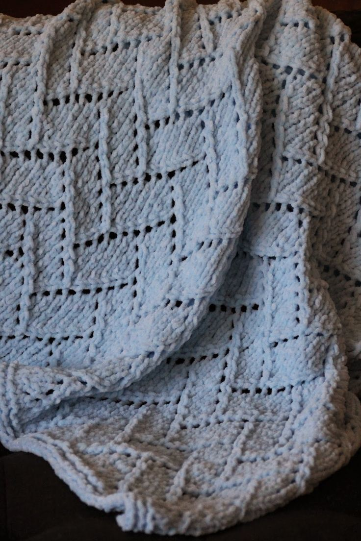 Knit Blanket Pattern Size 13 Needles : Bricklayers Lace Baby Blanket: made with roughly 450 ...