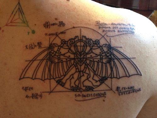 bioshock infinite tattoo | ... tattoo I got of the chalkboard sketch of Songbird from Bioshock