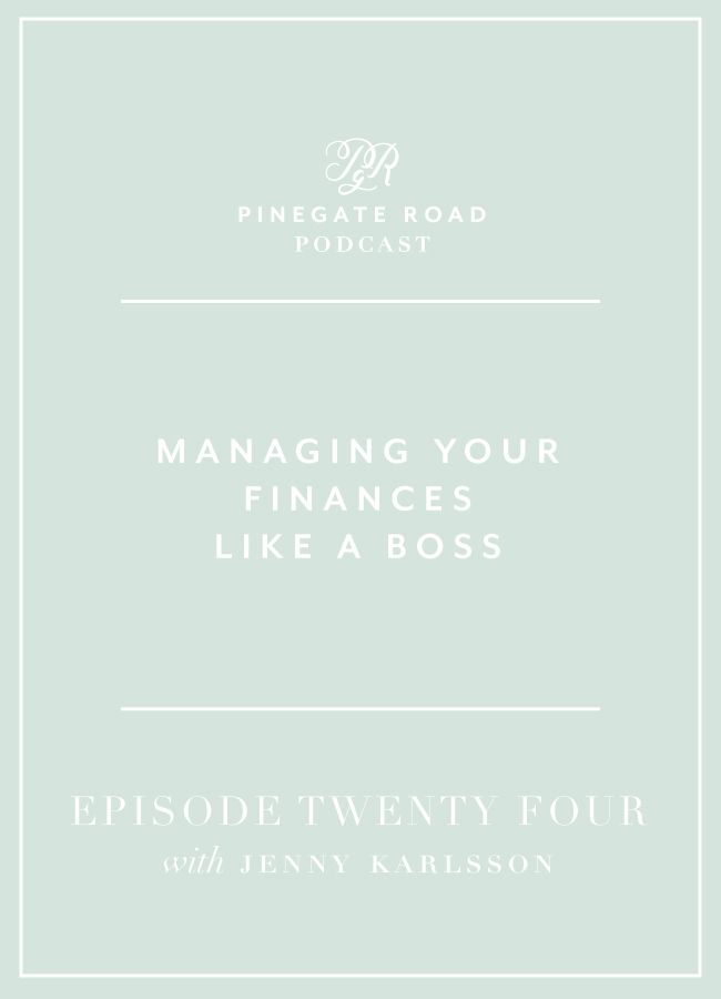 Are you planning to get your financial life sorted out in 2017? Today's guest is Jenny Karlsson and she is a pet photographer turned financial coach for creatives. Before starting her business she got an MBA which gave her a really solid foundation to build on. She talks about the very thorough process she went through to set herself up financially before taking her pet photography full-time. Jenny has great advice for managing your finances to take your side hustle full-time.