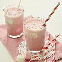 Milk-shake banane framboise