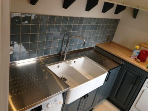 Stainless Steel Work Top ( Belfast Sink Option Shown )