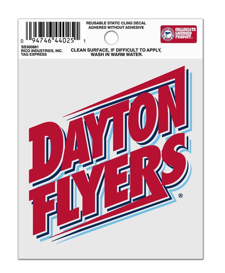 Dayton Flyers Logo Static Cling Sticker NEW!! Window or Car! NCAA