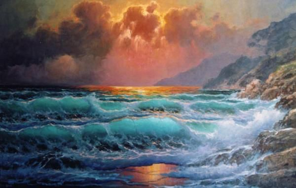 Seascapes Paintings by Alexander Dzigurski