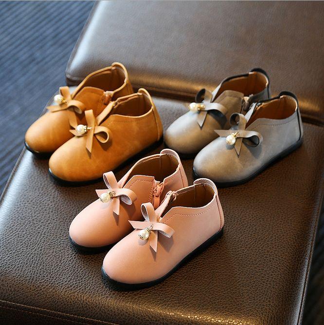 2016 Bahar yeni çocuk ayakkabıları kız rahat prenses ayakkabı bebek ayak bileği çizmeler
