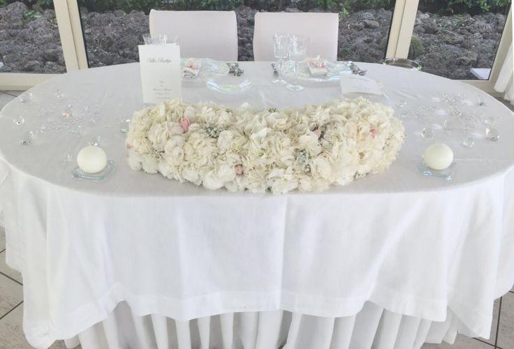 Tavolo sposi total white eleganza e raffinatezza di un matrimonio a Villa Posillipo