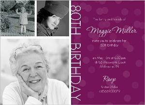 Timeline Confetti  80th Birthday Invitation                                                                                                                                                                                 More